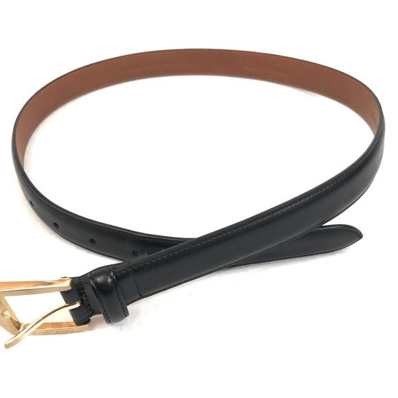 Ralph Lauren black leather belt size small